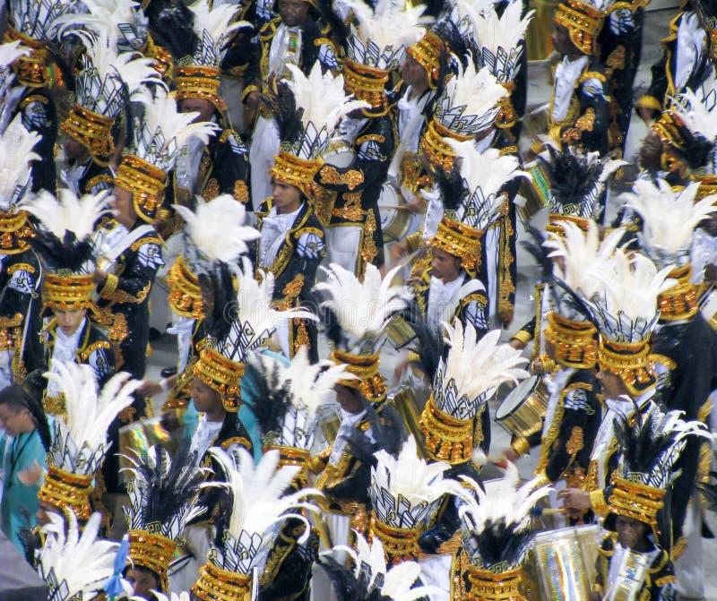 Amazing extravaganza during the annual Carnival in Rio de Janeiro. Rio de Janeiro, Brazil - February 23: amazing extravaganza during the annual Carnival in Rio royalty free stock photography