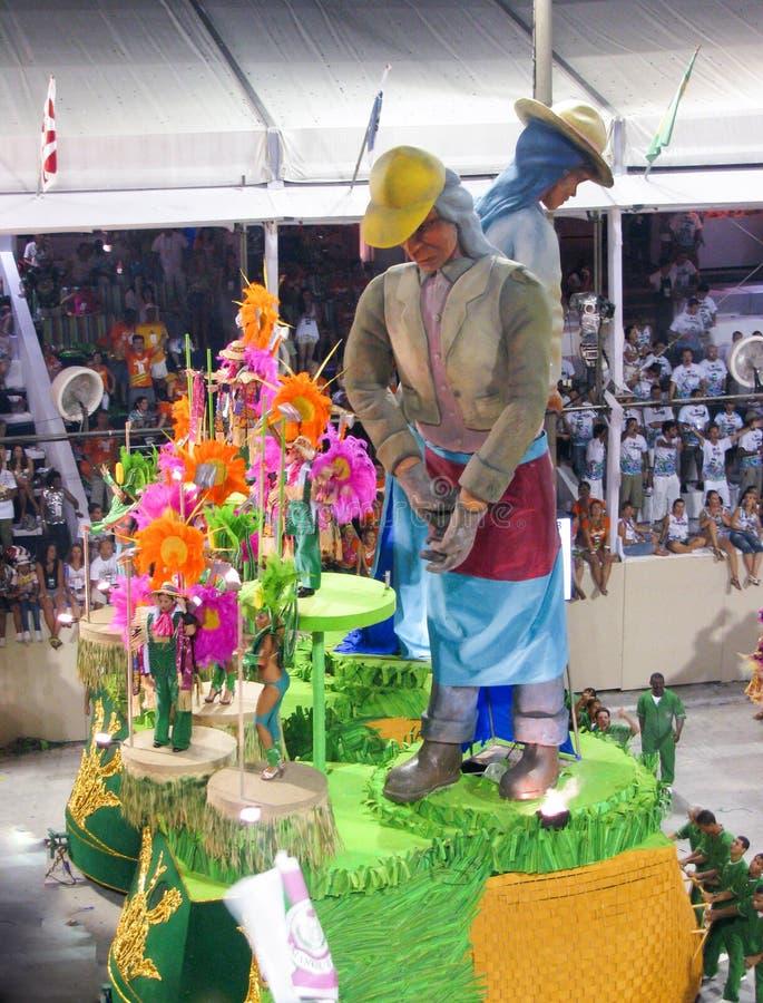 Amazing extravaganza during the annual Carnival in Rio de Janeiro. Rio de Janeiro, Brazil - February 23: amazing extravaganza during the annual Carnival in Rio stock photography