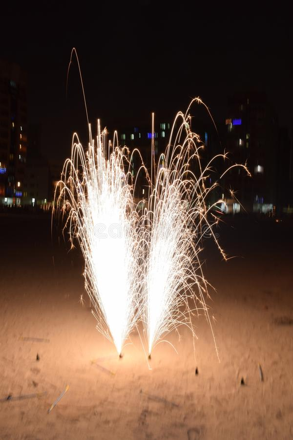 Fireworks of diwali royalty free stock photo