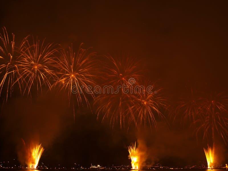 Amazing fireworks II stock photo