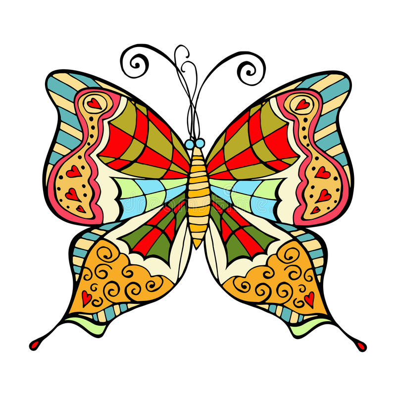 Amazing fly butterfly royalty free illustration