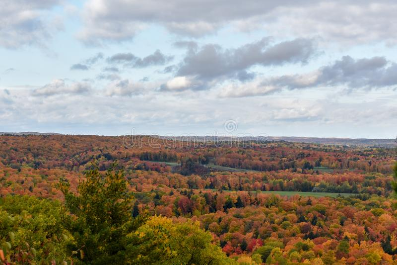 Amazing Foliage from Mount Marquette in Michigan. Stunning fall colors from the top of Mount Marquette in the Upper Peninsula of Michigan royalty free stock photos