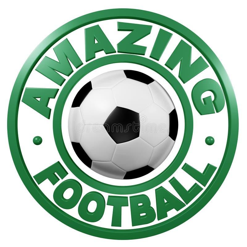 Amazing Football Circular Design Stock Image
