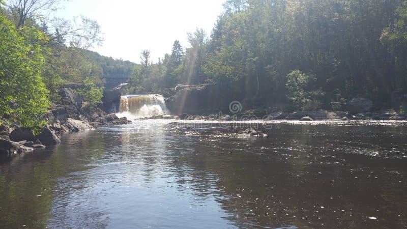 waterfalls dream landscape stock image
