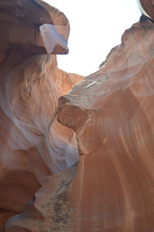 Amazing Geological Formations In Antelope Canyon. Land of Navajos. Geology. Holidays. Travel. Amazing Geological Formations In Antelope Canyon. Land of Navajos stock photography