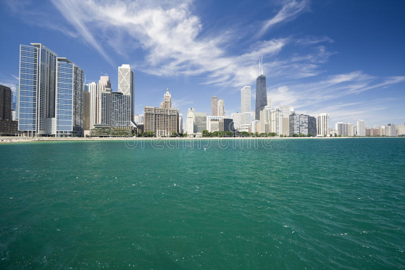 Amazing Gold Coast in Chicago stock images