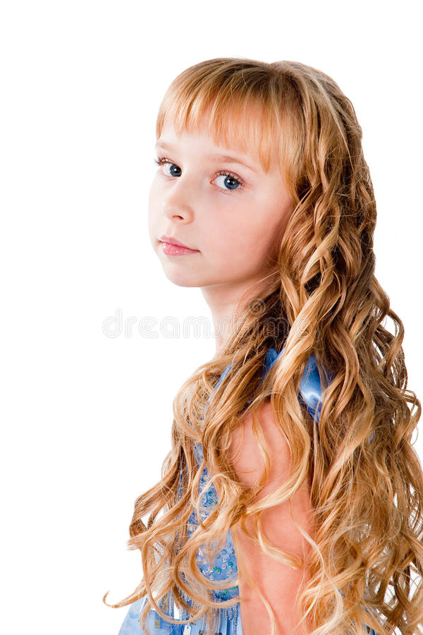 Download Amazing Hairs Teen Girl Isolated On White Stock Photo - Image: 23103734