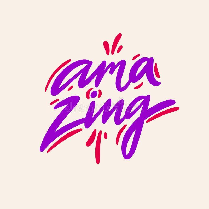 amazing Hand het getrokken vector van letters voorzien Motieven Inspirational citaat royalty-vrije illustratie