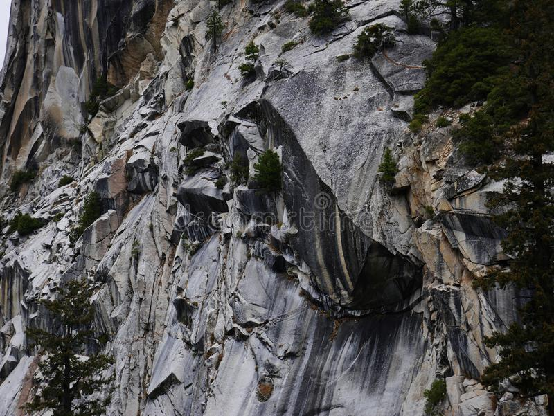 Amazing rock wall in Yosemite national park royalty free stock image