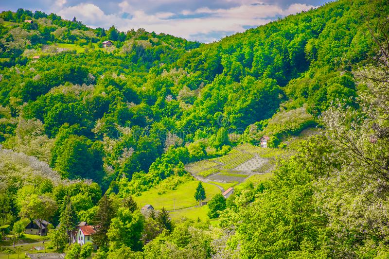 Amazing hills in Zagorje, Croatia. royalty free stock photography