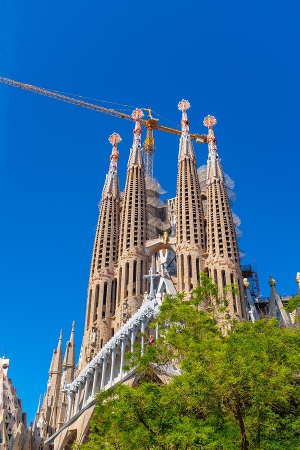 View of the beautiful La Sagrada Familia stock photos