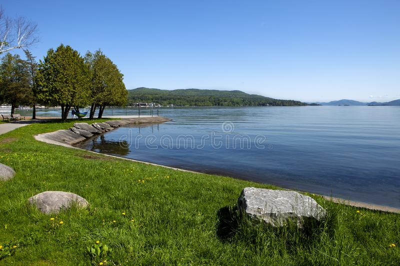 The amazing Lake George in New York. The stunning placid waters of Lake George in New York royalty free stock photography