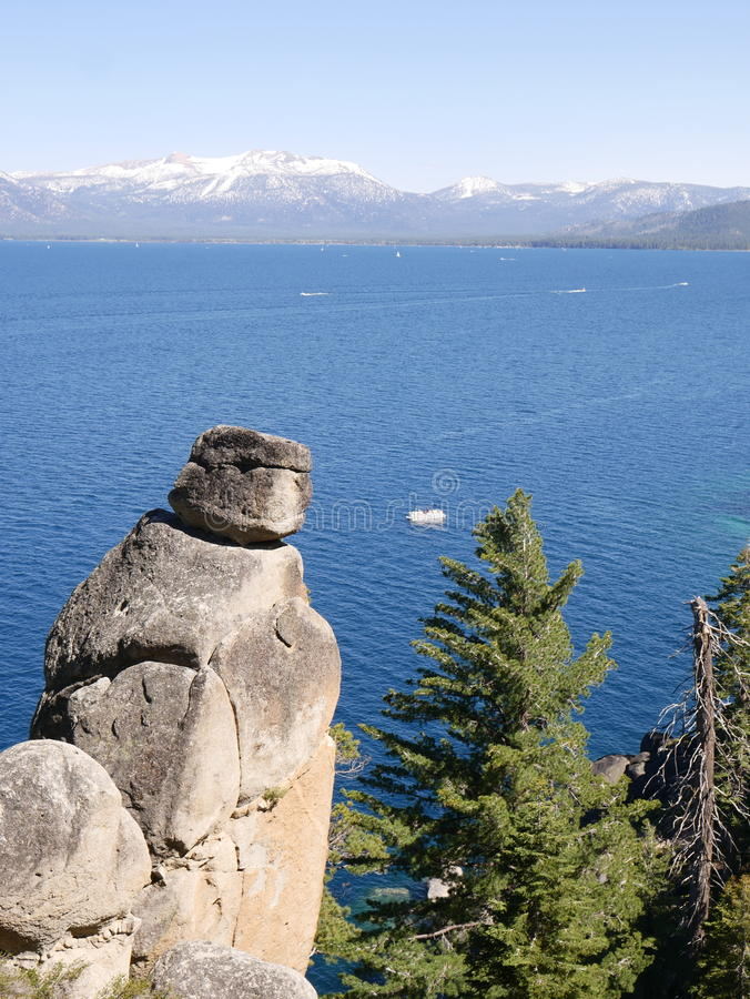 Amazing Lake Tahoe with mountains royalty free stock image