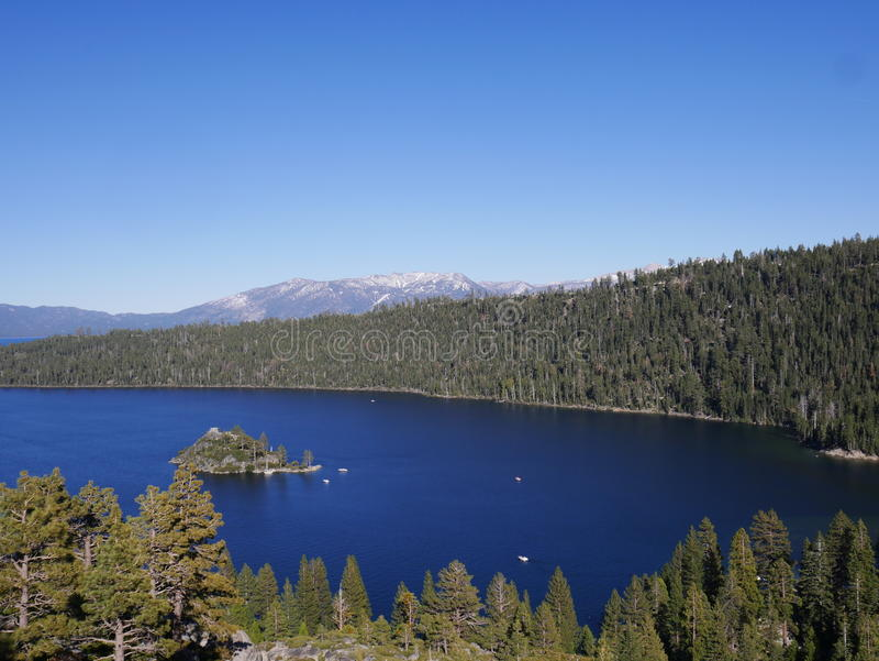 Amazing Lake Tahoe with mountains royalty free stock photos