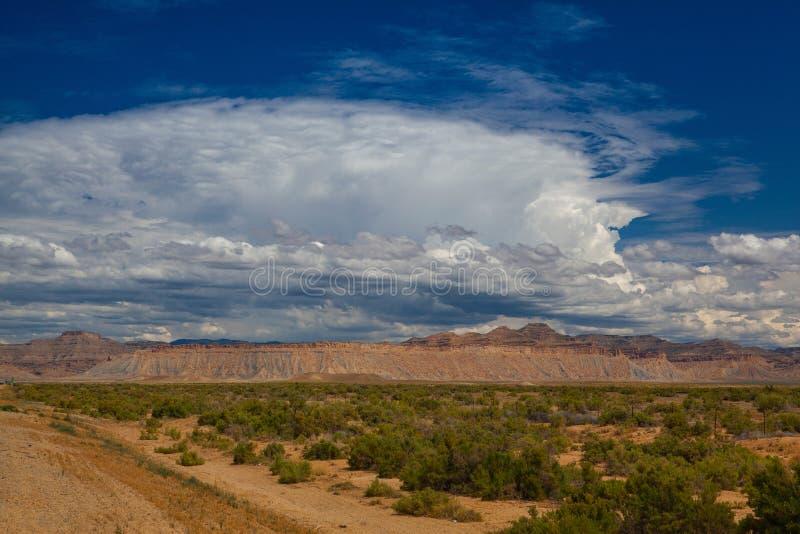 The landscape along the desert highway Utah, USA stock images