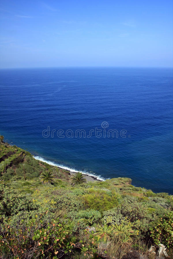 An amazing landscape from La Gomera stock photography