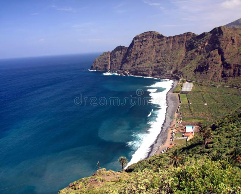 An amazing landscape from La Gomera royalty free stock photography