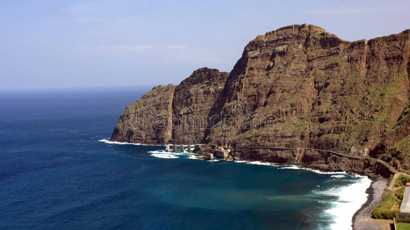 An amazing landscape from La Gomera. The one of the Canary Islands, Spain royalty free stock photo