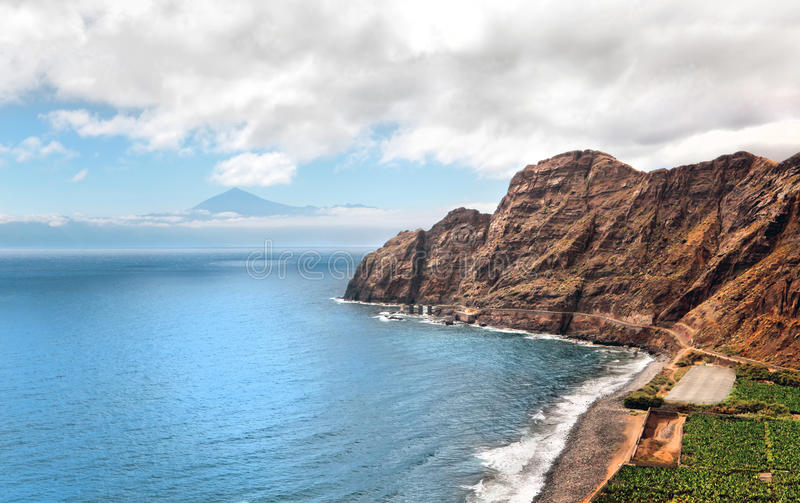 An amazing landscape from La Gomera stock image
