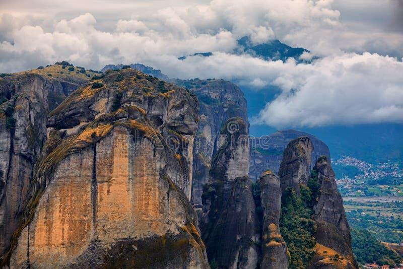 Amazing Landscape At Meteora Stock Image