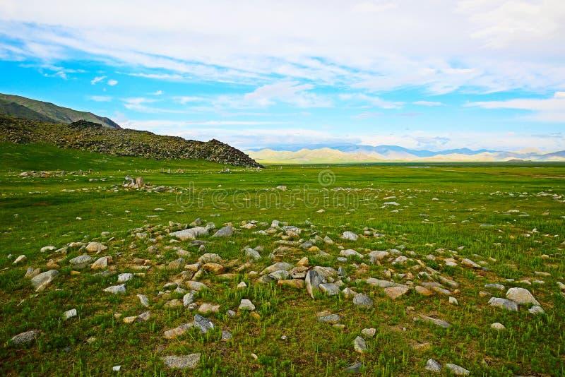 Amazing landscape in Mongolia stock photos