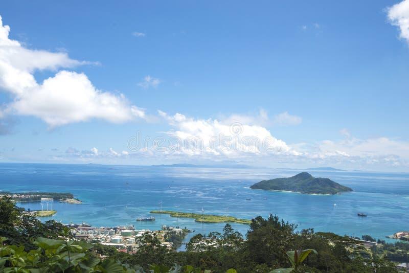 Amazing landscape Seychelles islands stock photo