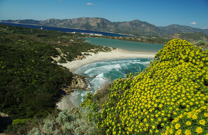 Download Amazing Landscape At Villasimius Beach Stock Image - Image of turquoise, blue: 4261179