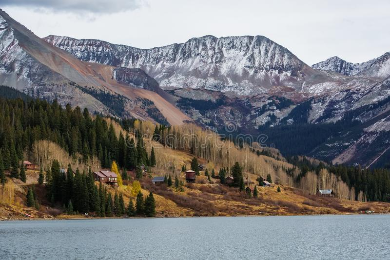 Amazing landscapes of San Juan national forest in Colorado, USA.  royalty free stock image