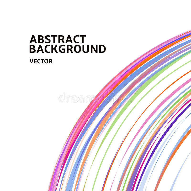Amazing linear thread, abstract white vector background template backdrop space design for posters, flyers, covers stock illustration
