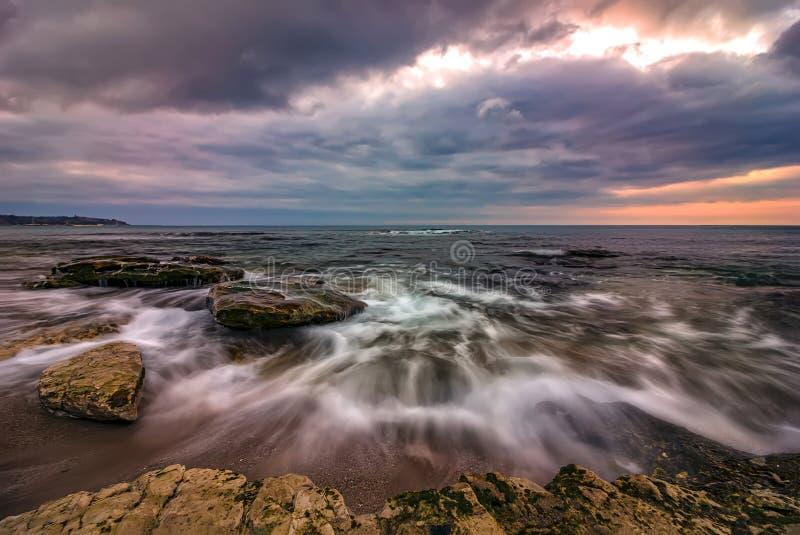 Amazing long exposure seascape royalty free stock image