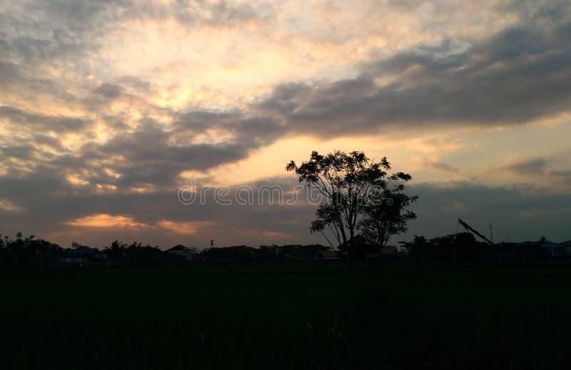 Amazing Morning With Clear Sky Banyuwangi Indonesia. Banyuwangi, Indonesia - November  18, 2019 : Beautiful Morning In Banyuwangi royalty free stock image