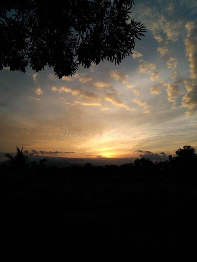 Amazing Morning With Clear Sky Banyuwangi Indonesia. Banyuwangi, Indonesia - November  18, 2019 : Beautiful Morning In Banyuwangi stock photography