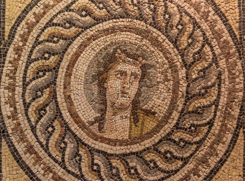 The amazing mosaics of Gaziantep, Turkey. Gaziantep, Turkey - Gazientep is one of the oldest cities in the World, with a stronge greek, roman and ottoman royalty free stock images