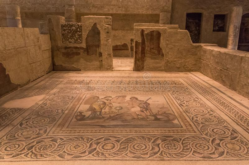 The amazing mosaics of Gaziantep, Turkey. Gaziantep, Turkey - Gazientep is one of the oldest cities in the World, with a stronge greek, roman and ottoman royalty free stock photo