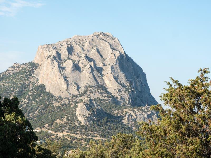 Amazing mountain peak in Crimea royalty free stock images