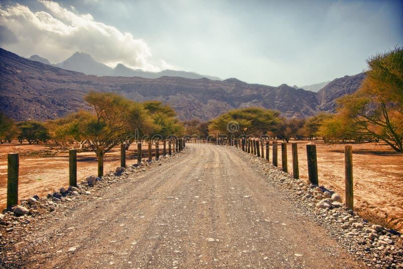 Amazing mountain scenery in Musandam peninsula, Oman royalty free stock photo
