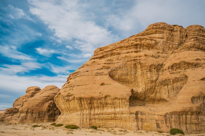 Amazing mountains in desert of Wadi Rum, Petra, Jordan.  royalty free stock photos