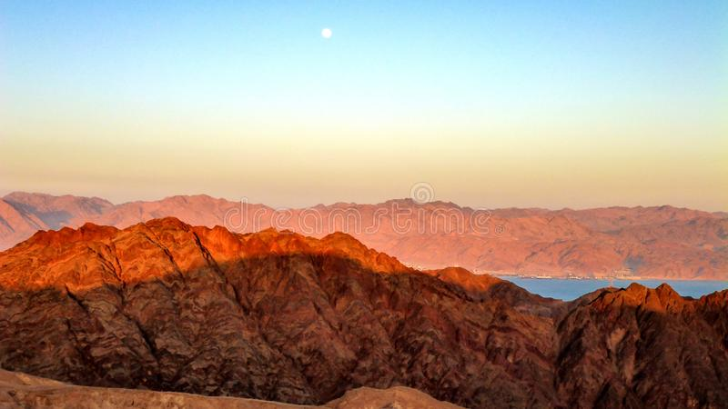 Amazing mountin view and Red sea in Eilat, Israel. Amazing mountin view and Red sea in Eilat stock image