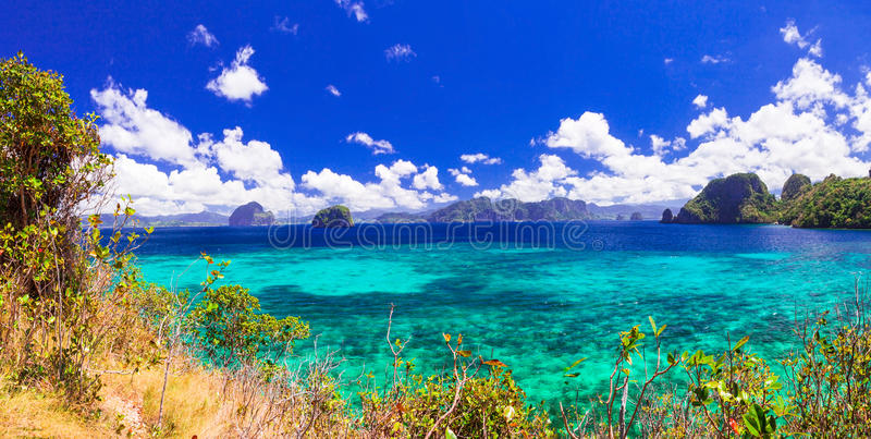 Amazing nature and beauty of Philippines islands - Palawan stock image