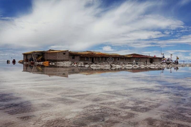 Amazing nature in Salar de Uyuni, Bolivia royalty free stock photography