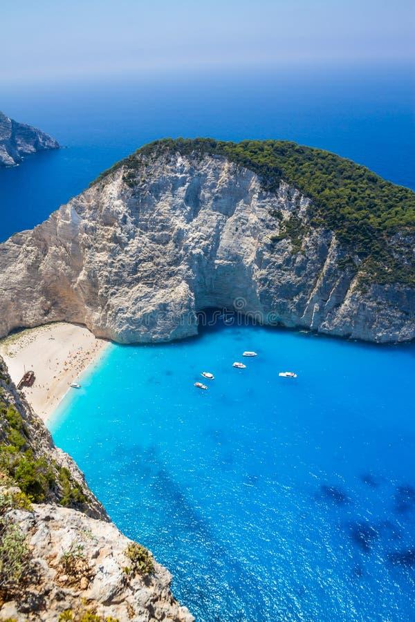Amazing Navagio Beach In Zakynthos Island, Greece Stock