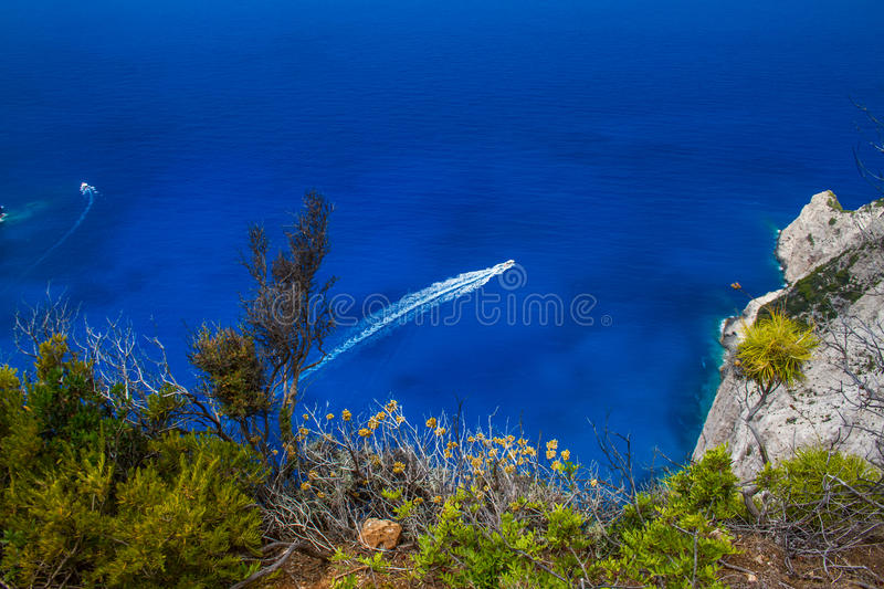 Amazing Navagio Beach in Zakynthos Island, Greece. Zakynthos Greece. Vacation and Tourism concept. Most popular bay in the world. Famous place. Travel background stock image