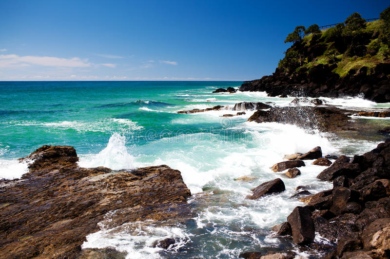 Amazing ocean at the Kingscliff beach royalty free stock images