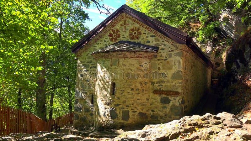Amazing Panorama of Green hills, Rila lakes and Rila monastery, Bulgaria royalty free stock image