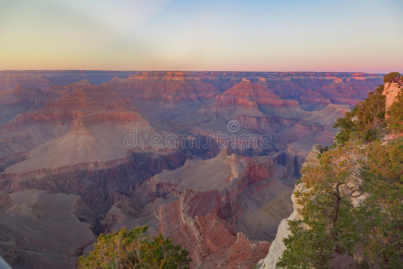 Amazing panorama view of Grand Canyon next to Hopi Point royalty free stock photography