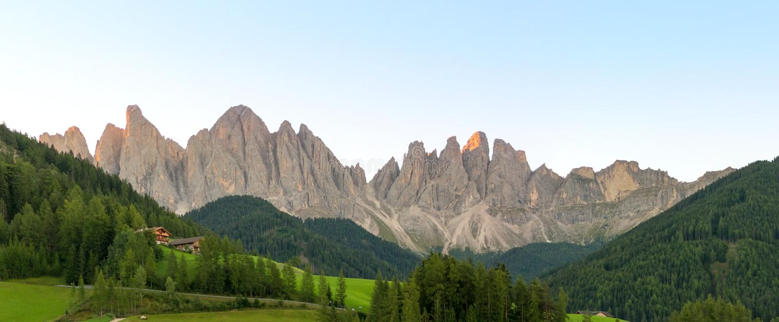 Amazing panoramic landscape at Italian South Tyrol. stock image