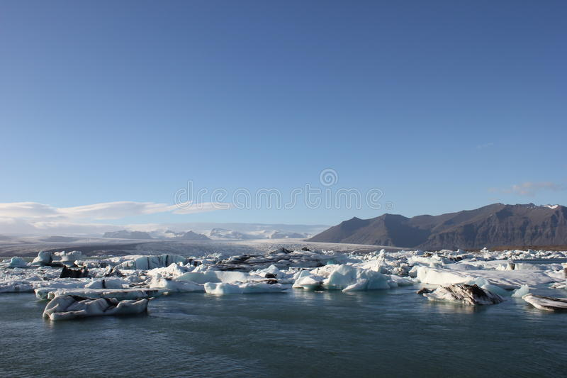 Amazing pieces of ice floes stock images