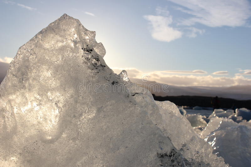 Amazing pieces of ice floes royalty free stock photos