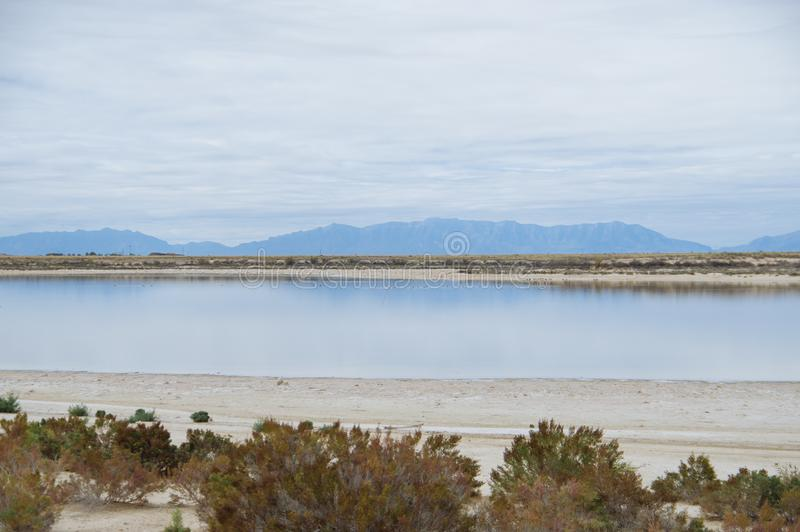 Raptor Lake near White Sands National Monument royalty free stock photography