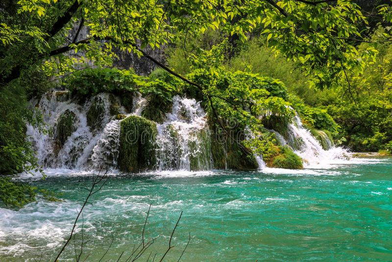 Amazing Plitvice Lakes National Park, Croatia stock photos